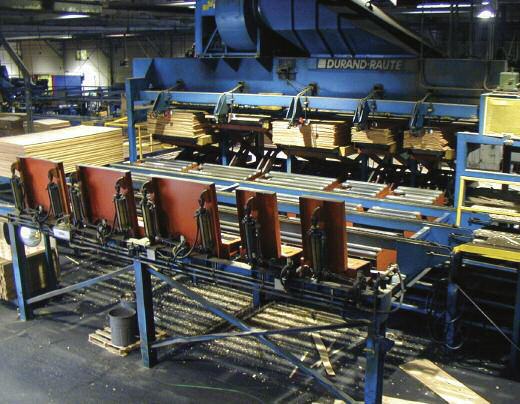 The OPP overlaid plywood mill in Shelton, WA was the first to install automatic dry veneer stacking in the early Eighties