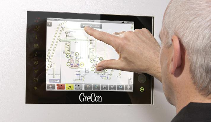 Touch screen user interface of the spark detection system