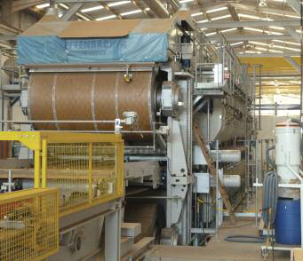 Eucatex's new 21m Dieffenbacher CPS press for HDF/MDF, opened last year at Salto
