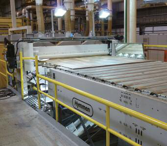 A Hymmen continuous melamine press installed at Masisa do Brasil, Montenegro