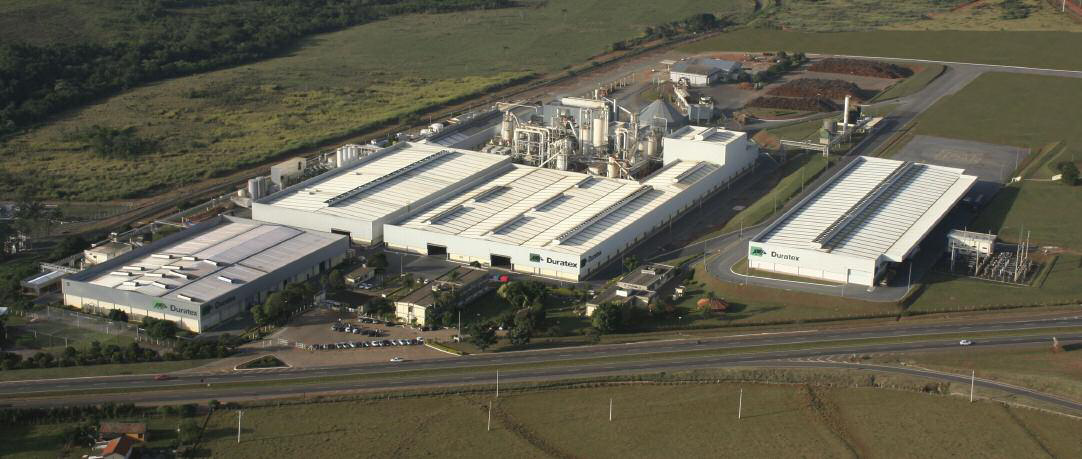 Ripe for expansion ? an aerial shot of Duratex's Itapetininga MDP plant which has been chosen to host the first of two new MDF lines planned by the group