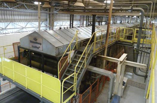 The 35.4m Siempelkamp ContiRoll continuous press on the 430,000m3/year MDP line