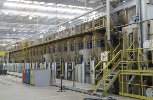 Hybrid line ? the refurbished 43m-long Dieffenbacher press on a 750,000m3/year MDP line at the Montenegro mill