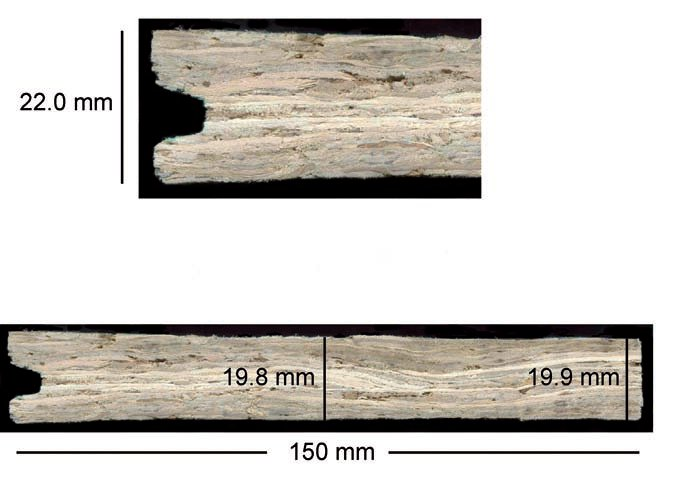 Fig 2 permanent edge swelling of an osb sub floor panel sample after it was floated on water - Fixing wood floor swelling ...