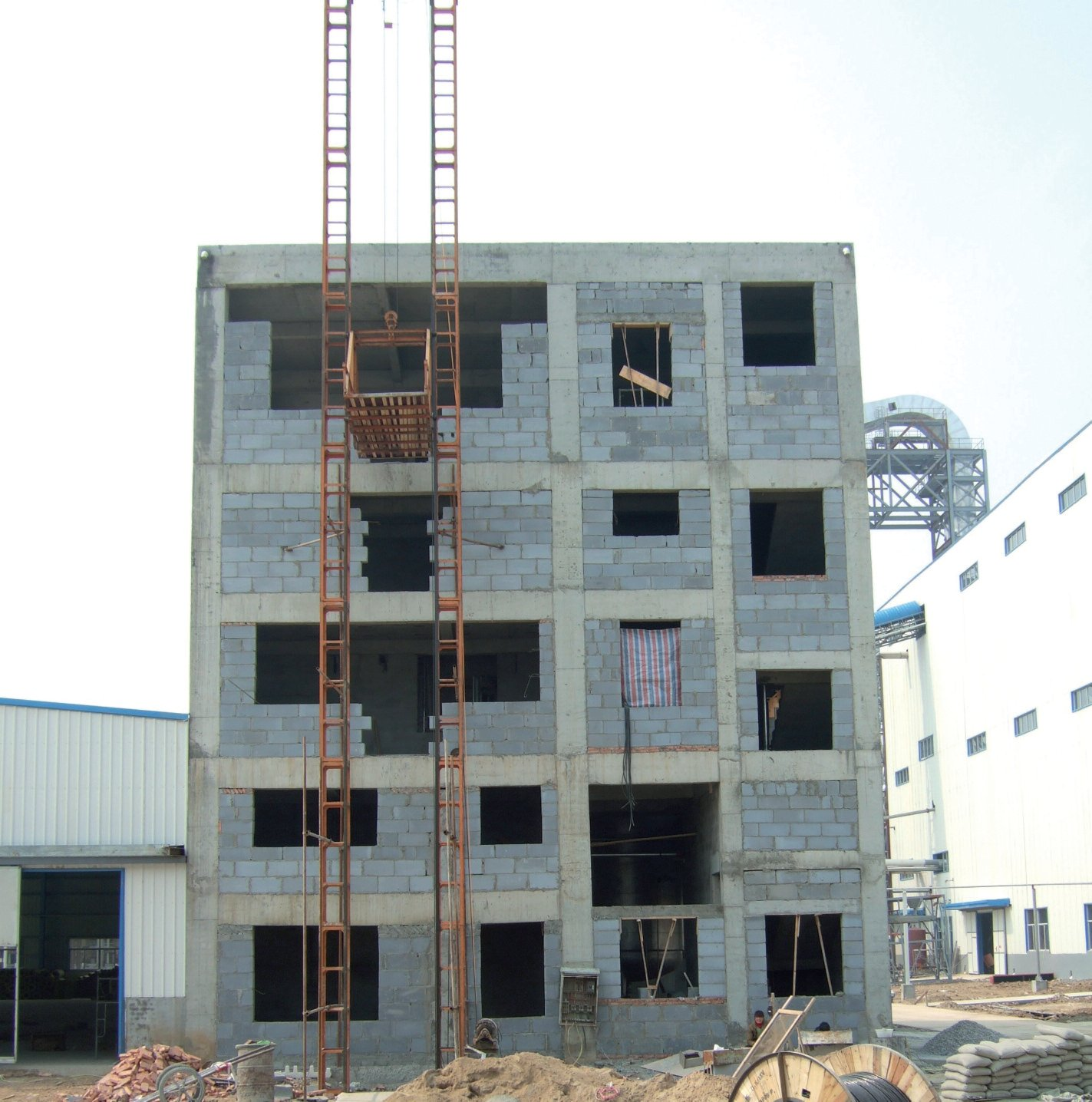 Building Under Construction : Resin production building under construction image